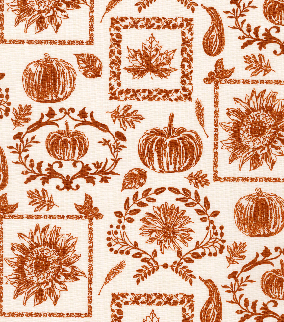Harvest Cotton Fabric 44\u0022-Fall Collage