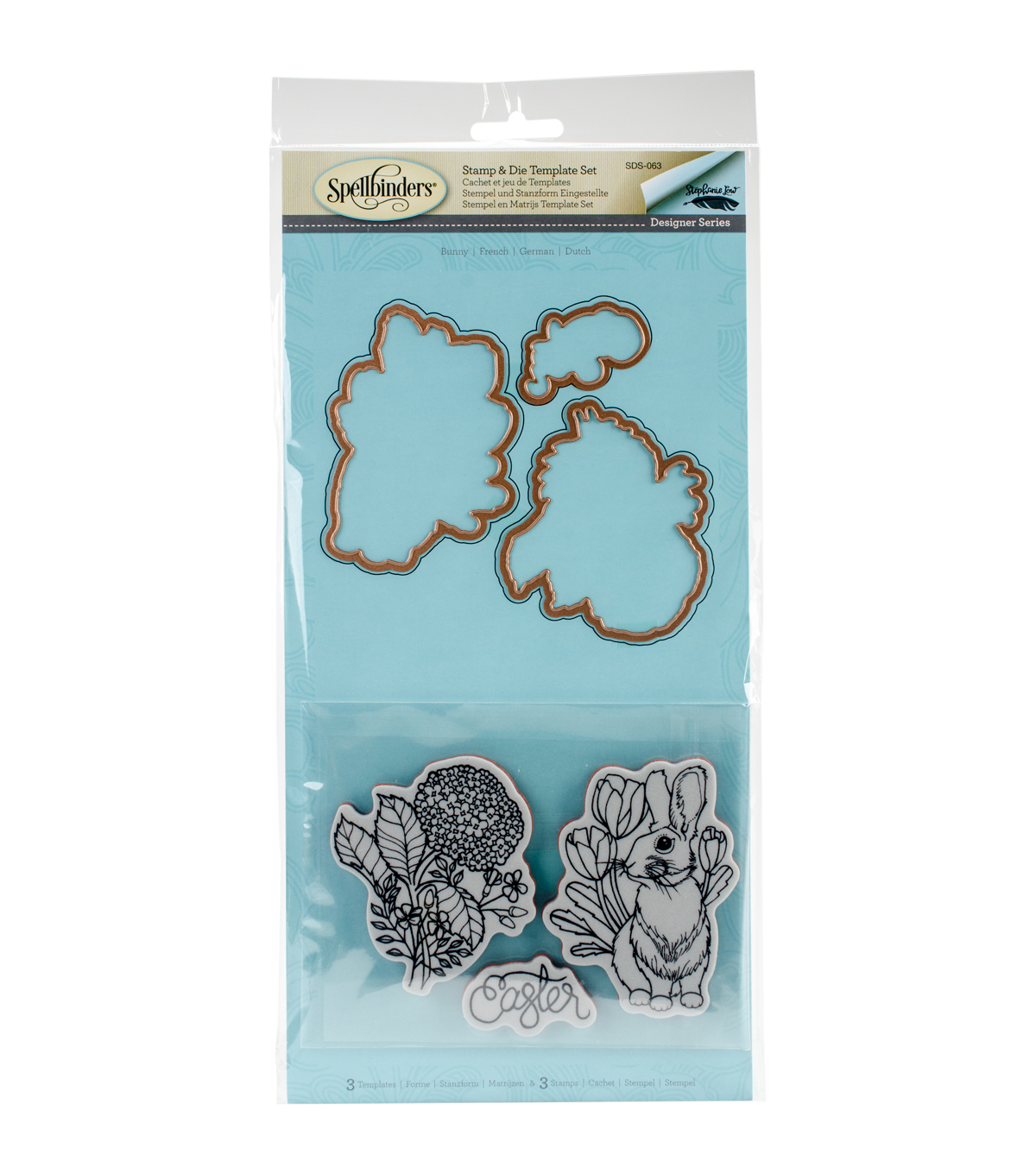 Spellbinders® Spring Love Stephanie Low Stamp & Die Set-Bunny