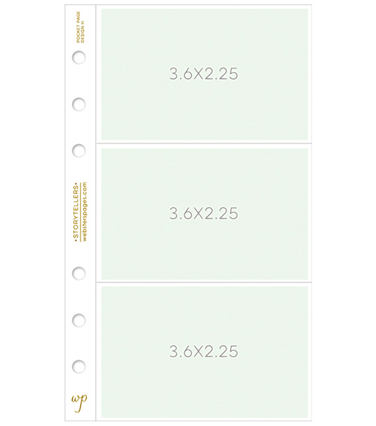 Personal Planner Photo Sleeve Pages-Design 3.6\u0022X2.2\u0022 Pockets