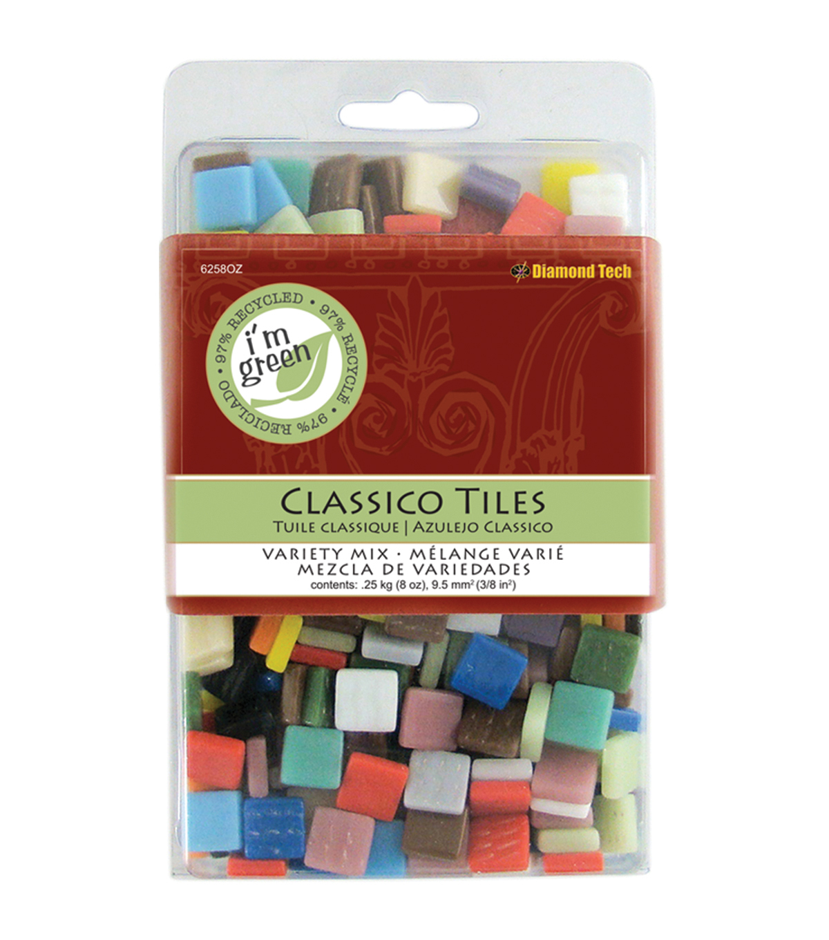 "Classico Tile Mix 3/8"" 8oz-Assorted Colors"
