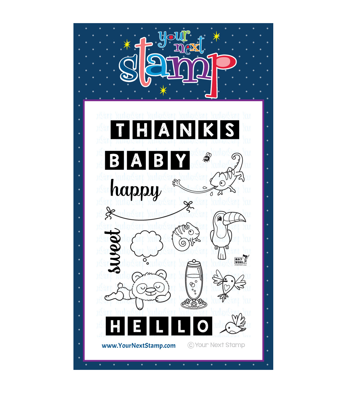 Your Next Stamp Clear Stamps-Word Critters-Exotic Animals
