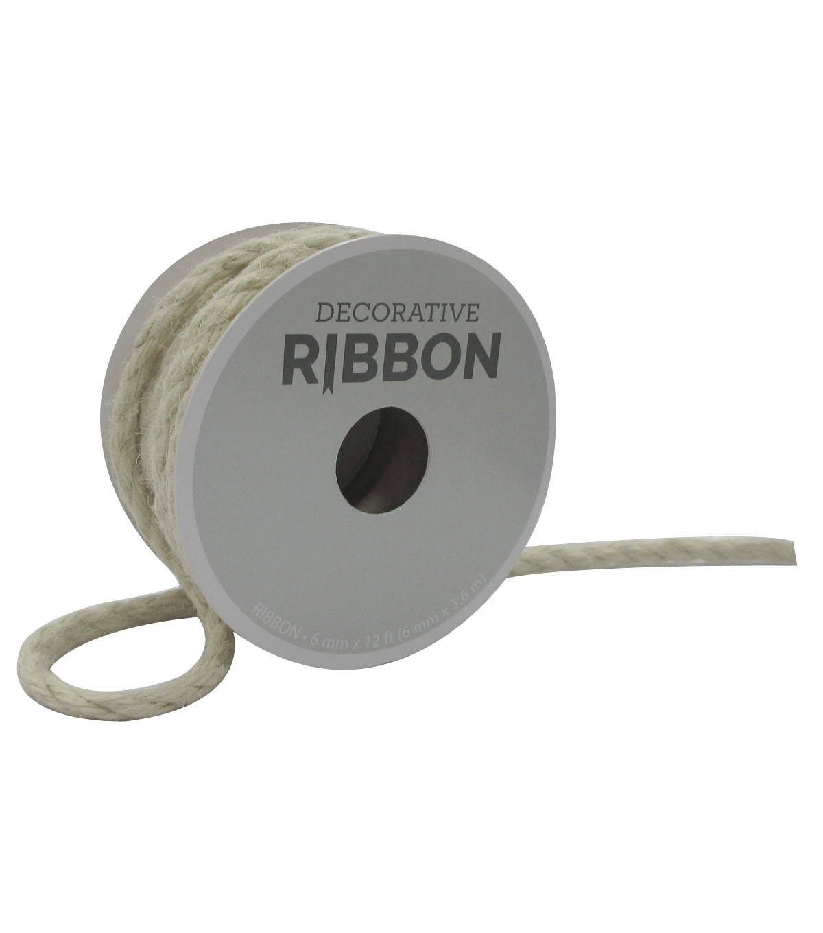 Decorative Ribbon 6mmx12\u0027 Narrow Cord-Ivory