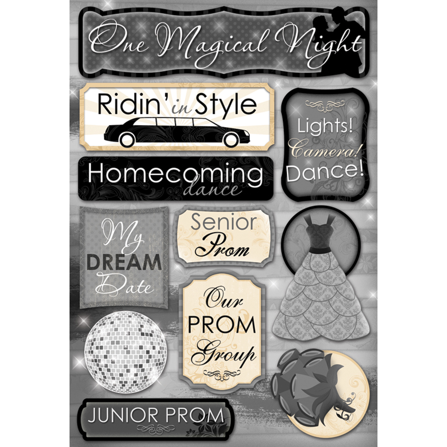 Karen Foster Prom Cardstock Stickers One Magical Night