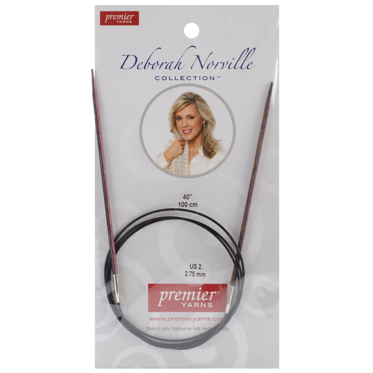 "Deborah Norville Fixed Circular Needles 40"" Size 2/2.75mm"