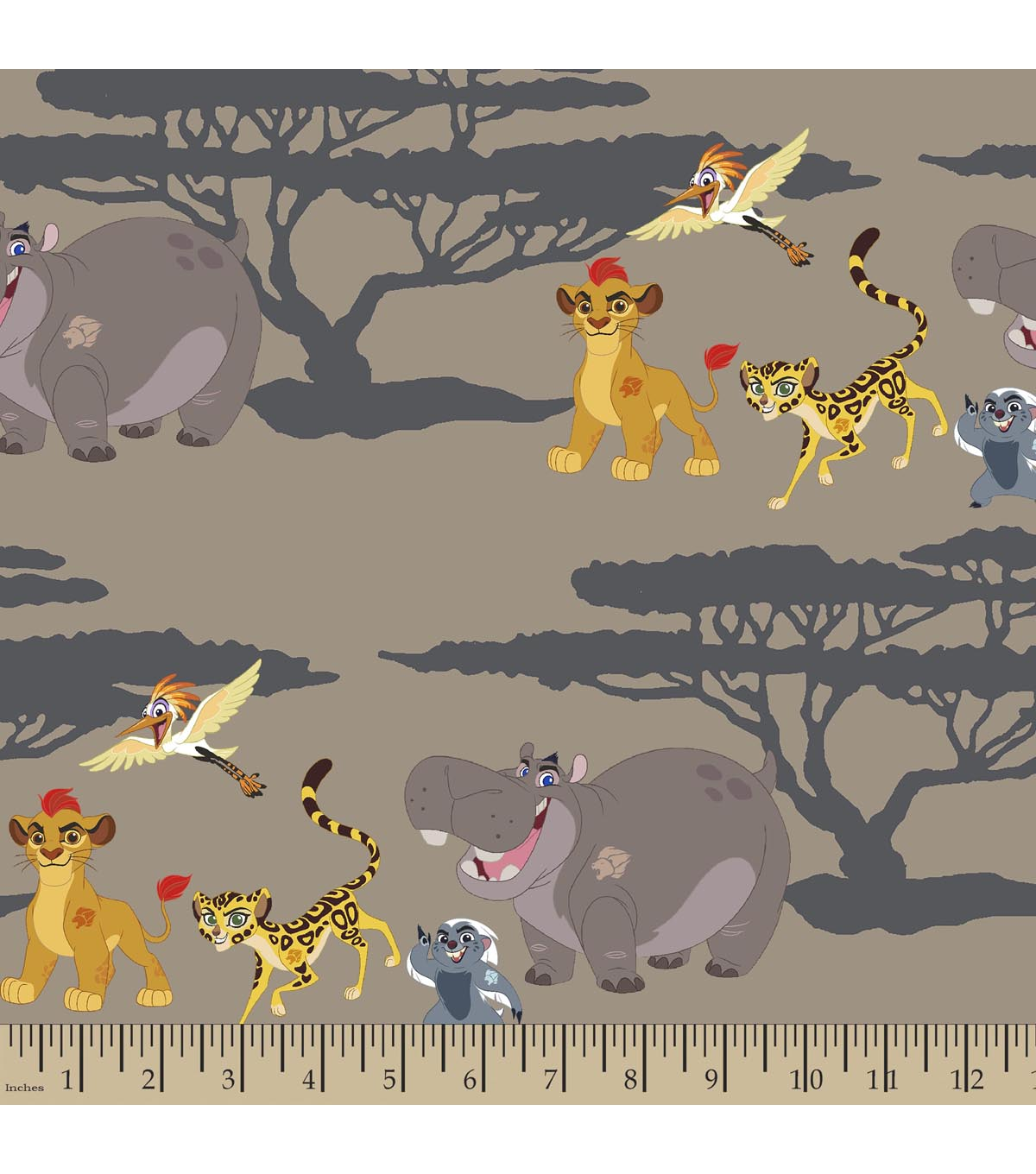 Disney The Lion Guard Print Fabric-A Walk Together