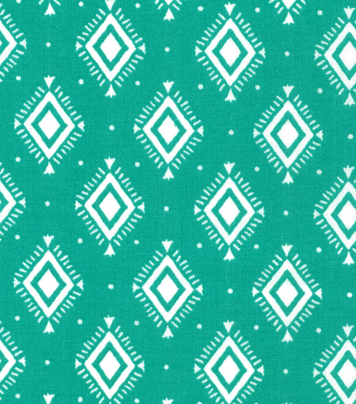 Quilter\u0027s Showcase™ Fabric 44\u0027\u0027-Pool Green Aztec Geometric