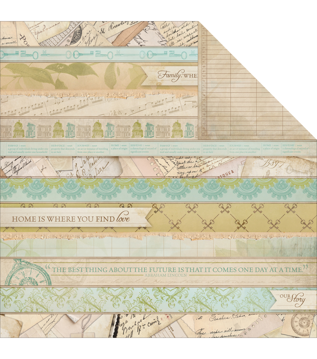Kaisercraft Heirloom Stories Double-Sided Cardstock