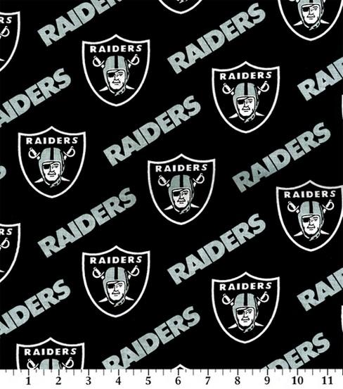 Oakland RaidersNFL Cotton Fabric JOANN