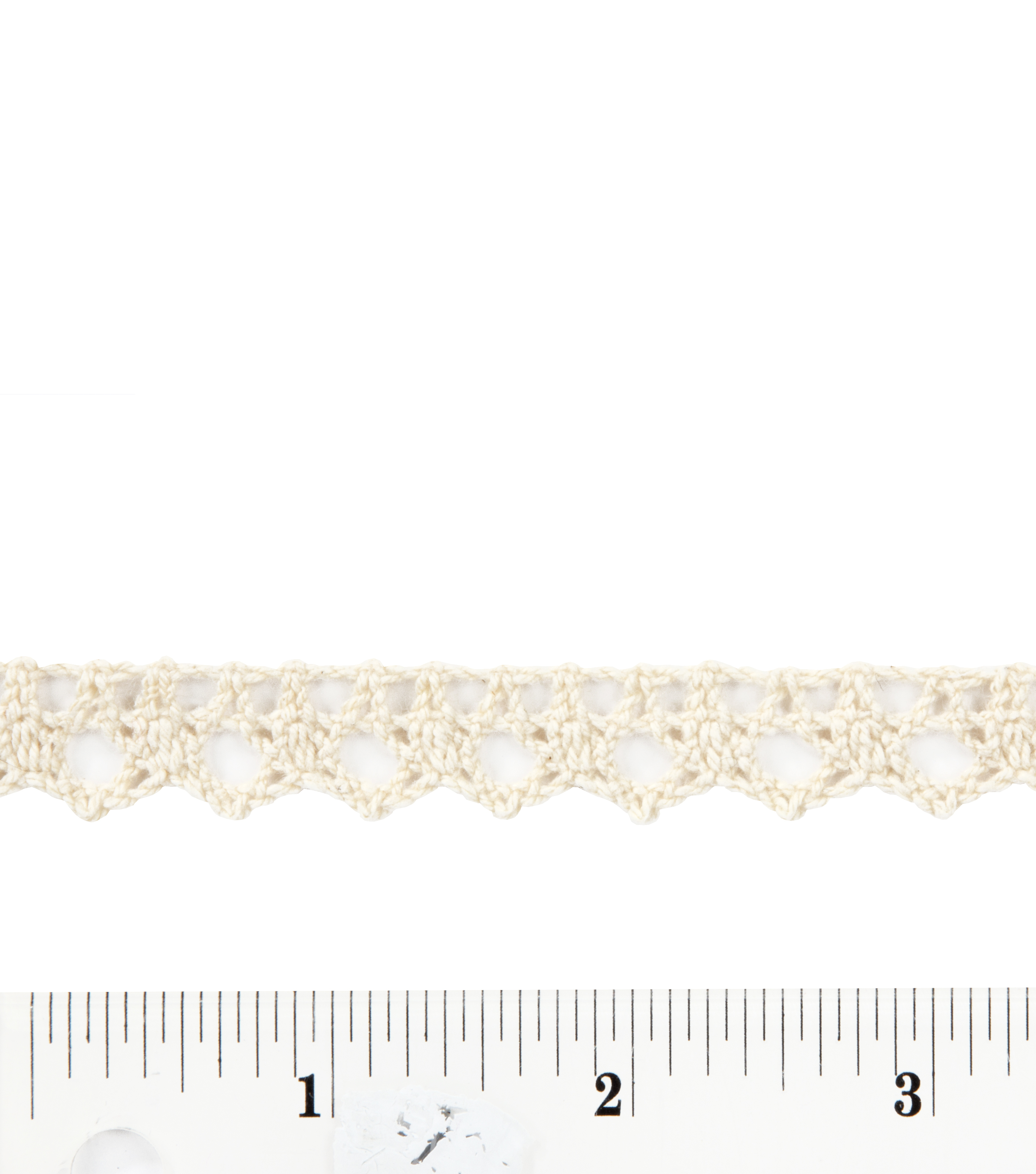 1/2 Inch wide Natural Cluny Edge Cotton Trim