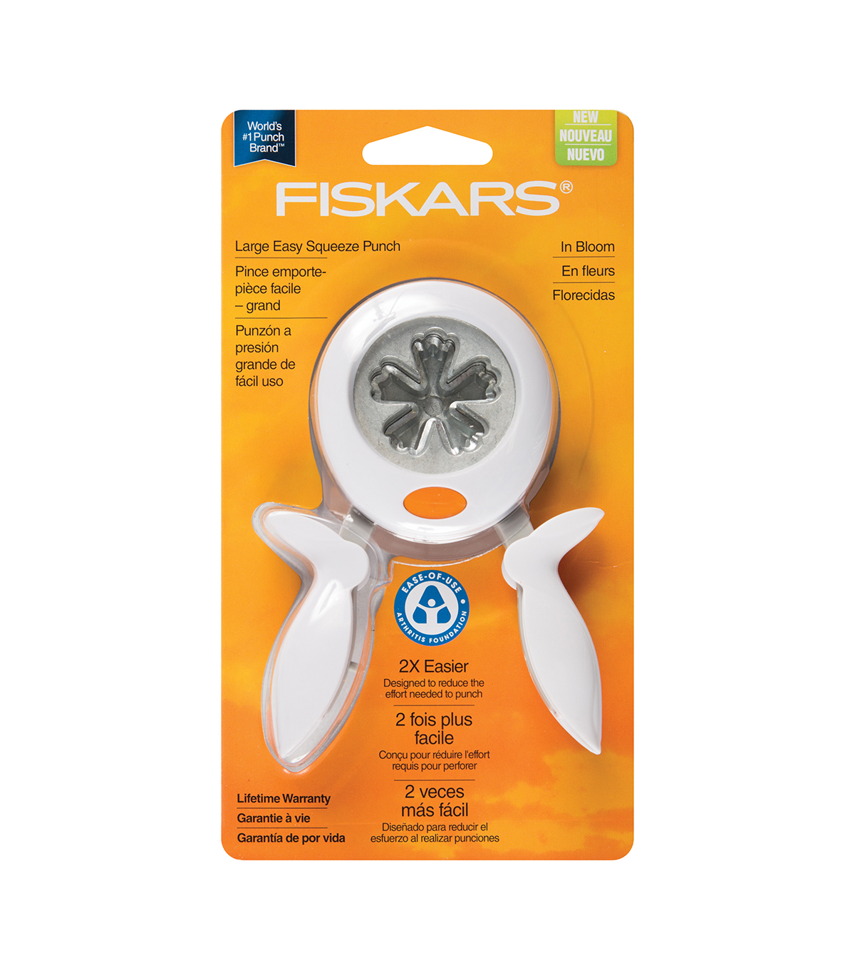 Fiskars Squeeze Punch, Large - In Bloom