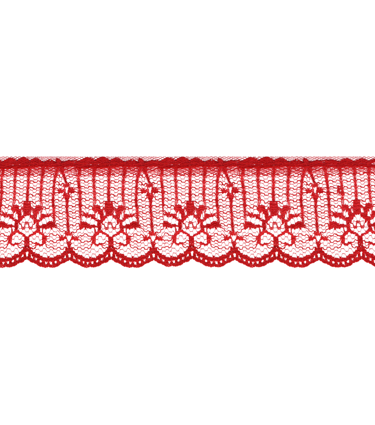 "1 5""/8"" Red Lace Apparel Trim"