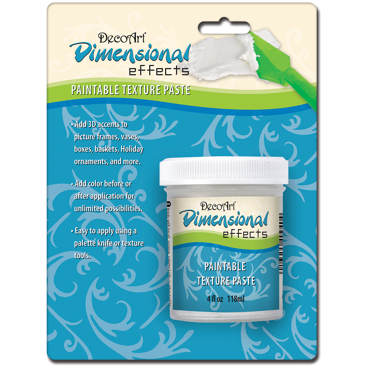 DecoArt Dimensional Effects Texture Paste Carded White
