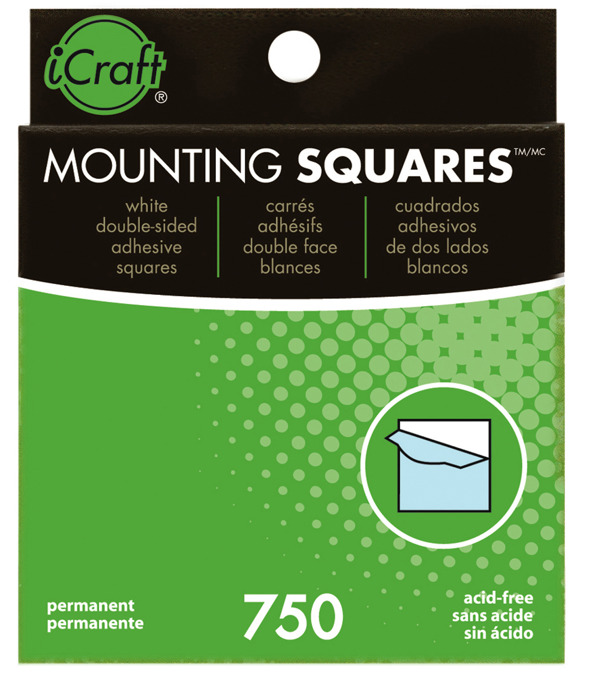 Mounting Squares 750 count boxes can be used for Paper & Photo\u0027s. Strong Adhesive, Dispensing Box
