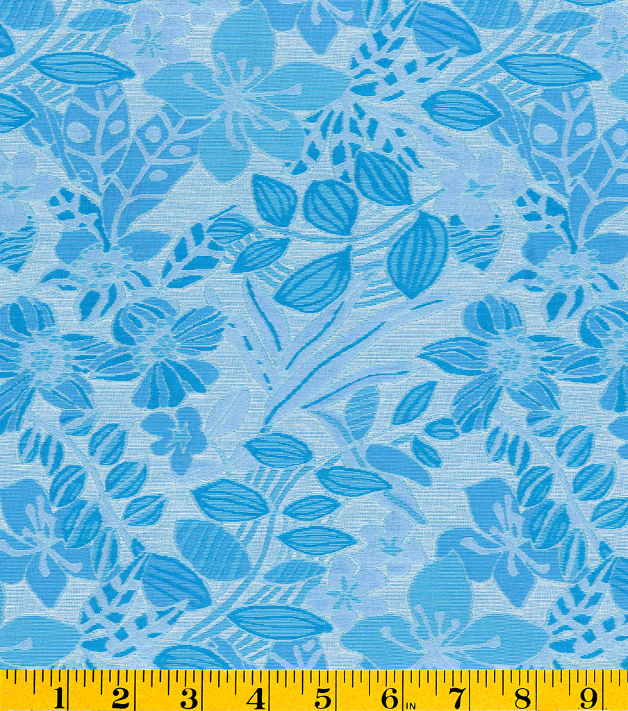 "Gertie Collection Jacquard Fabric 56""-Leaves"