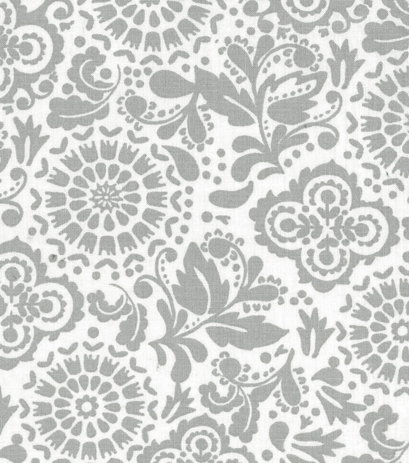 Quilter\u0027s Showcase™ Fabric 43\u0027\u0027-Gray Floral Medallion