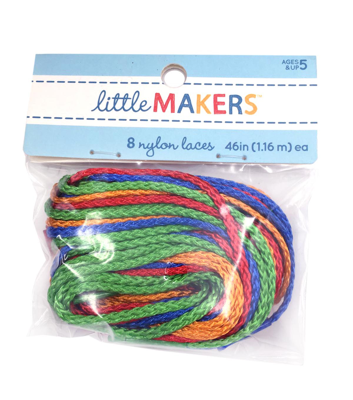 Tipped Nylon Laces 46 inches long,  8pc/pkg