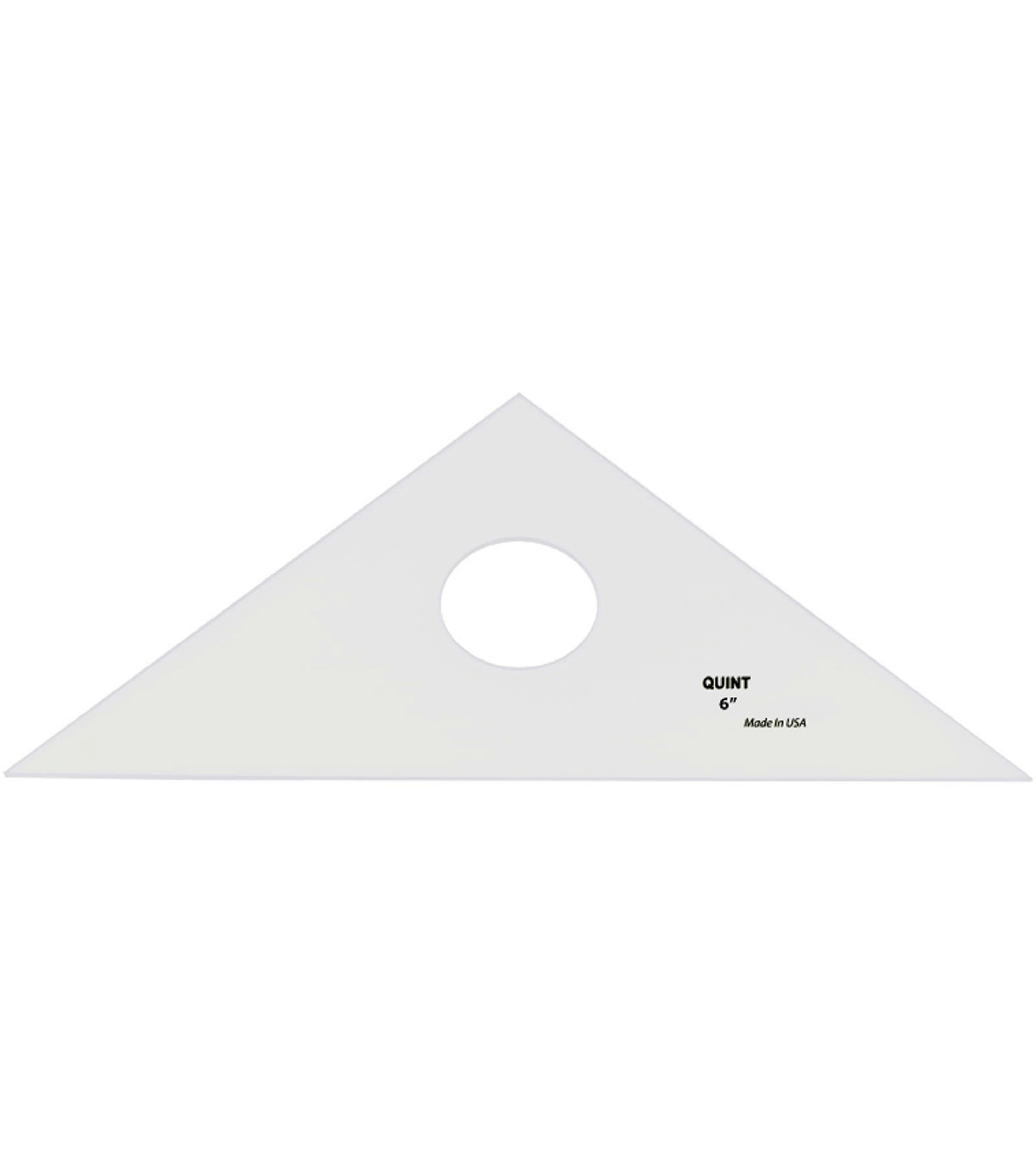 Quint Measuring System 6\u0027\u0027 45/90 Professional Plain Edge Triangle