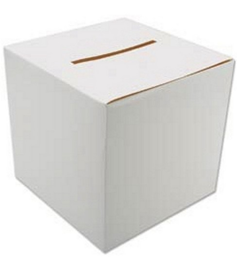 "Foldable Card Box 12""X12""-White"