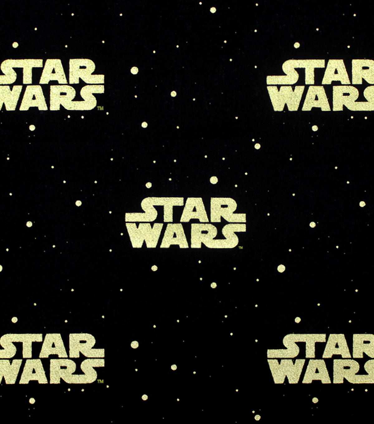"Star Wars™ Cotton Fabric 44""-Metallic Logo"