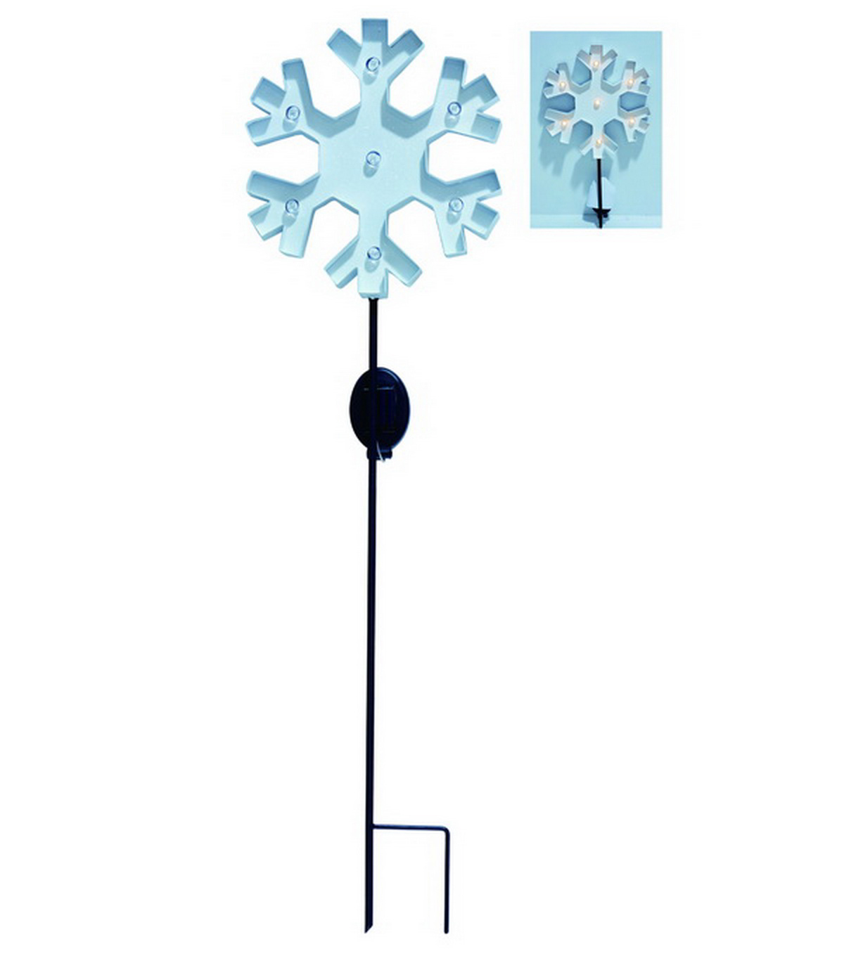 Maker\u0027s Holiday Snowflake Solar Yard Stake