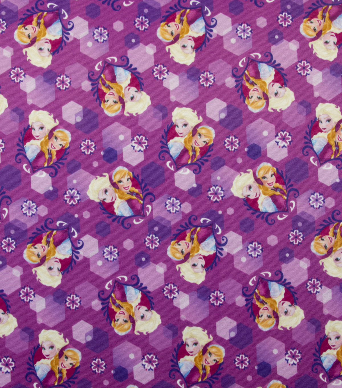 Disney® Frozen Jersey Fabric 59\u0022-Anna and Elsa Sparkle