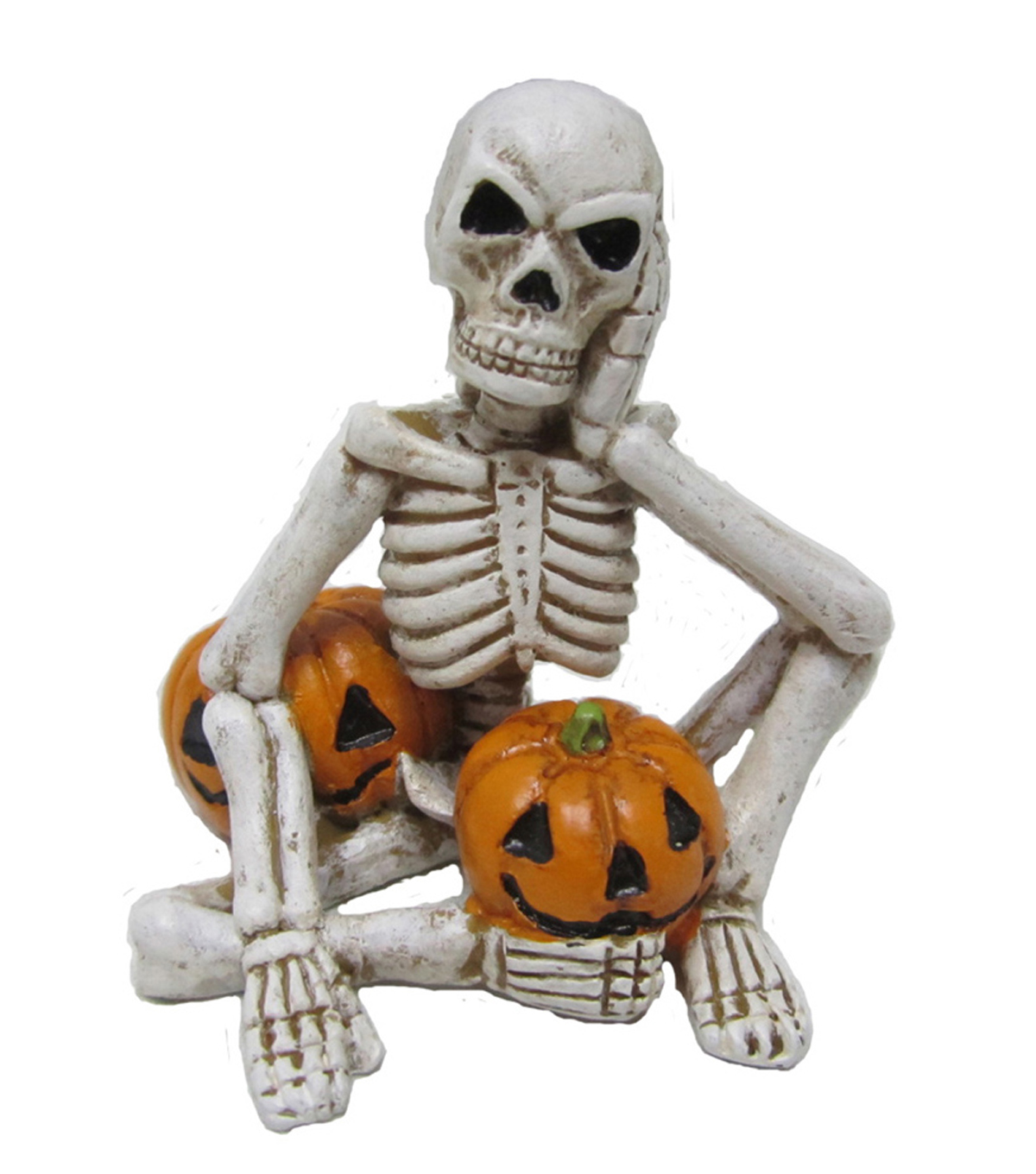 Maker\u0027s Halloween Littles Skeleton with Pumpkins