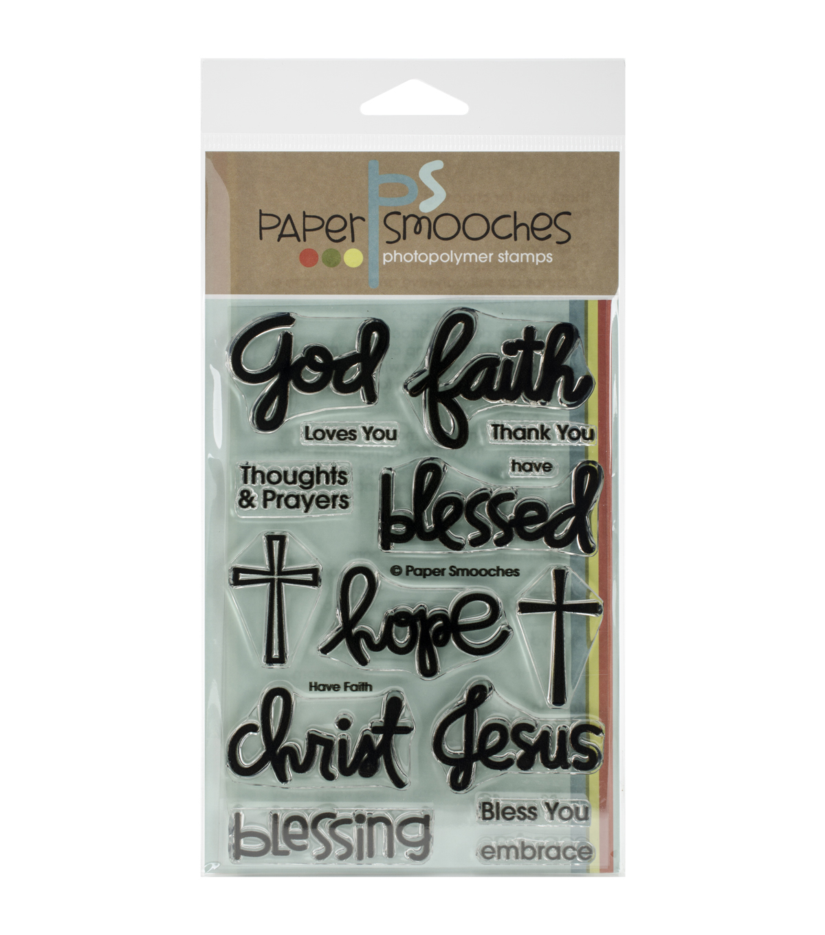 Paper Smooches Clear Stamps 4\u0022X6\u0022 -Have Faith
