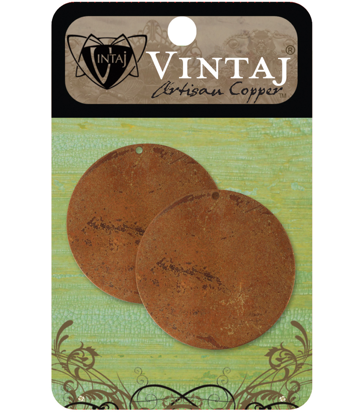 Vintaj Metal Altered Blanks 2/Pkg-Large Circle 33.4mm