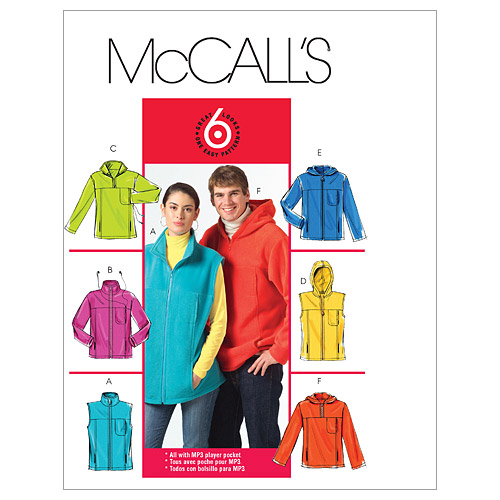 McCall\u0027s Patterns M5252 Adult Vests & Jackets-Size S-M-L