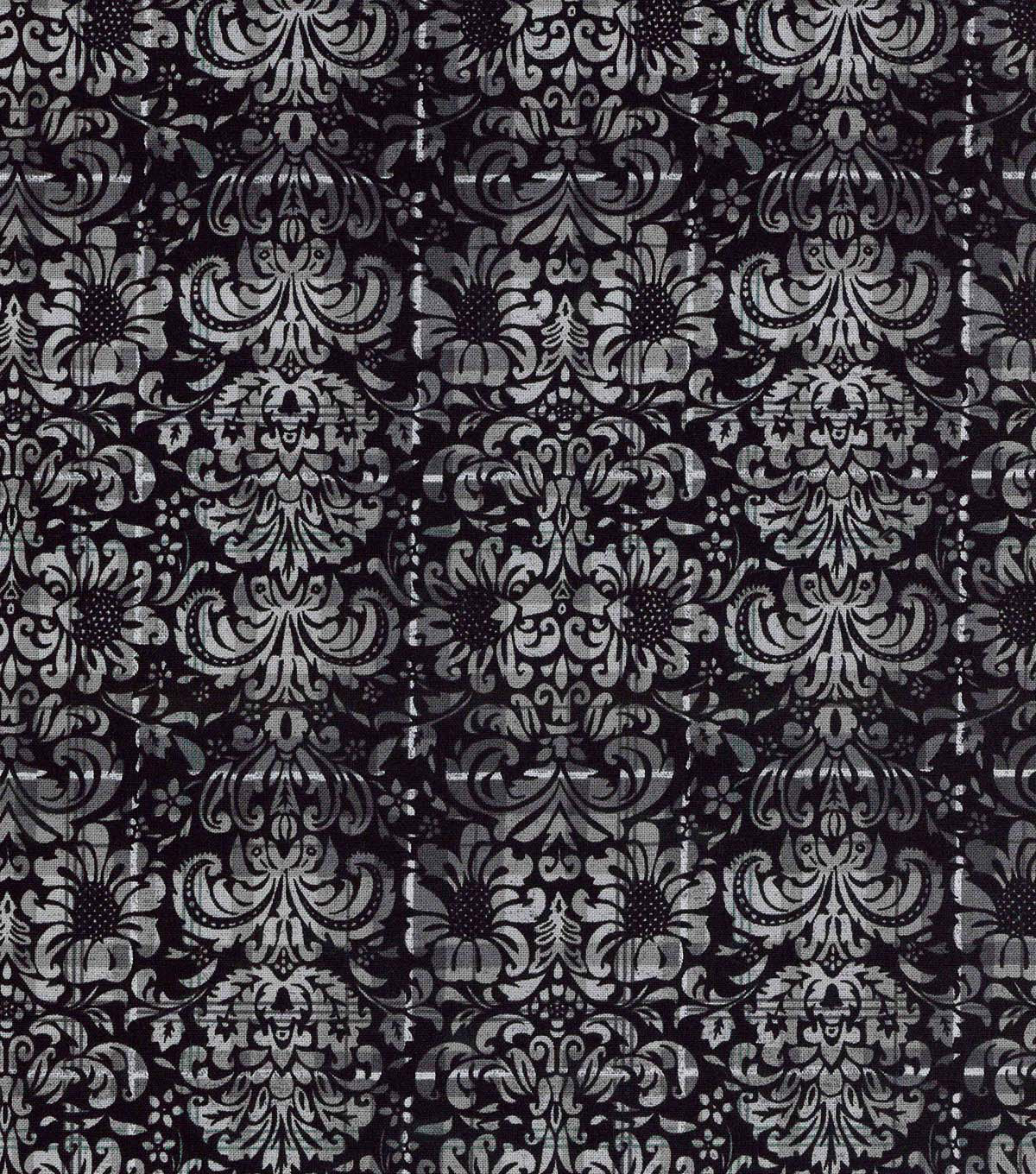 Keepsake Calico™ Cotton Fabric-Black Plaid