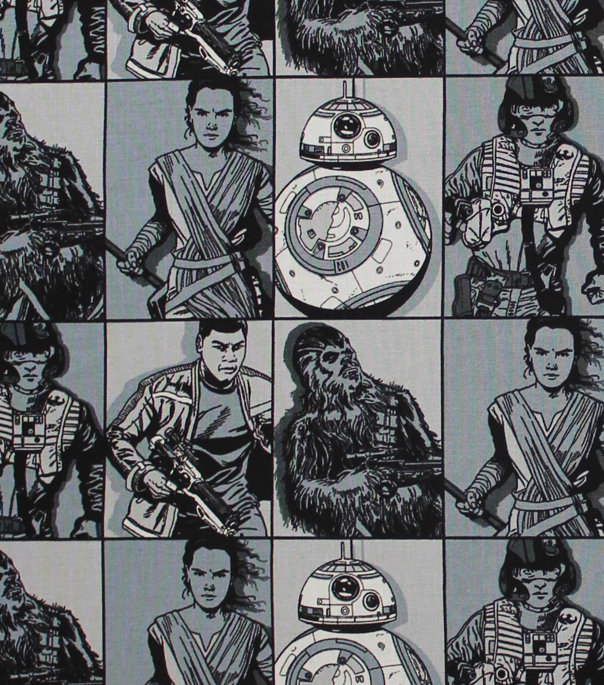 Star Wars™: The Force Awakens Cotton Fabric 44\u0022-Hero Squares
