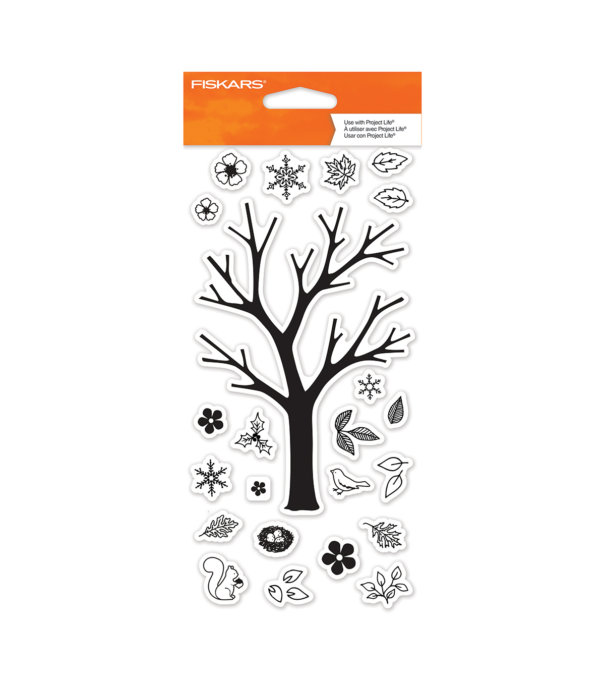 Fiskars 4\u0022X8\u0022 Clear Stamps- Build A Tree