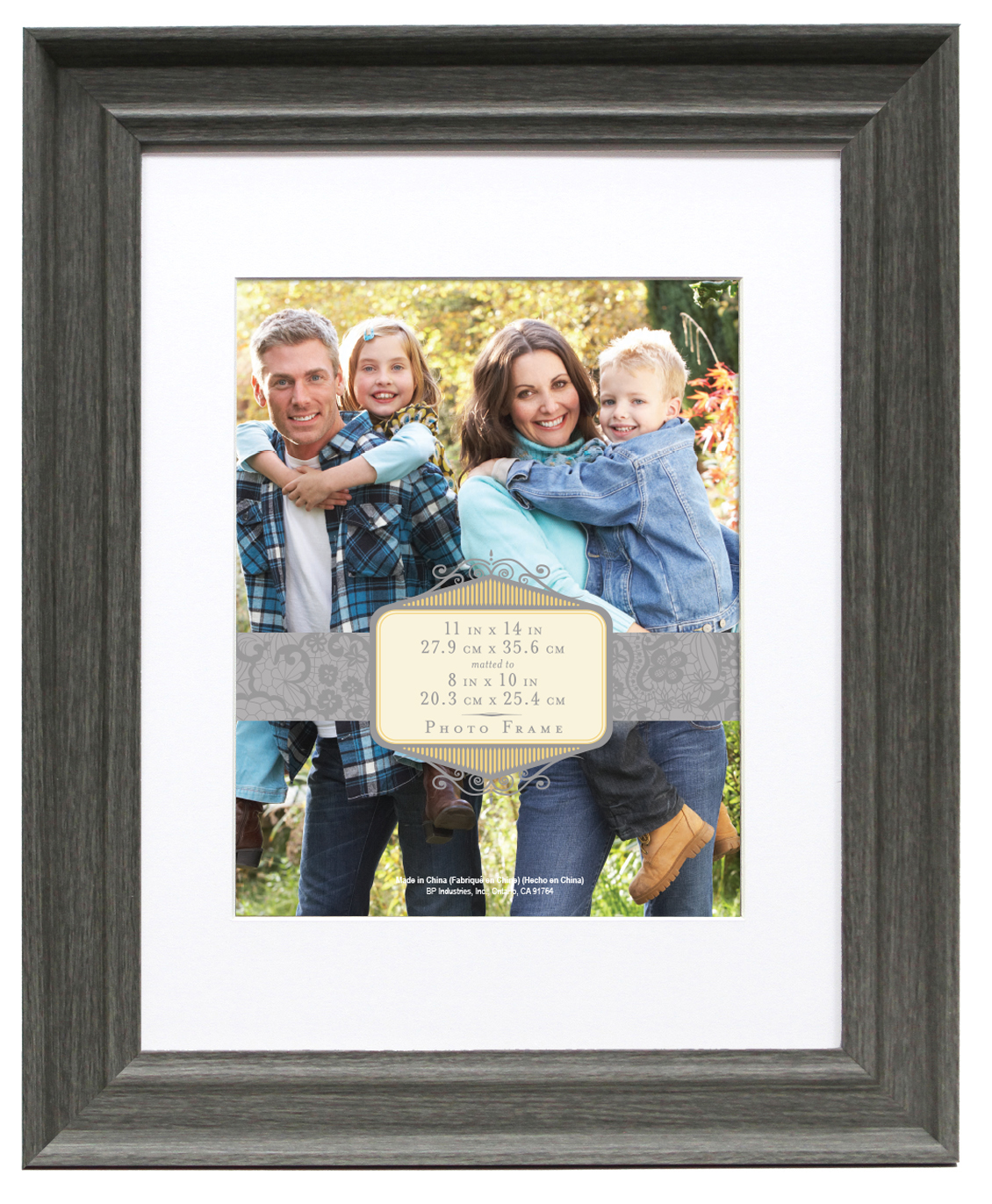 Wall Frame 11X14 Mat To 8X10-Rustic Gray
