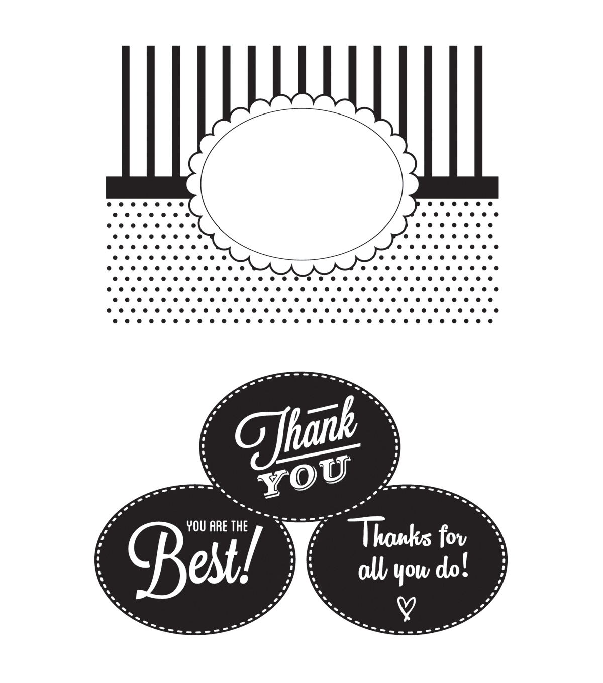 CGull Interchangeable Embossing Folder-Thank You
