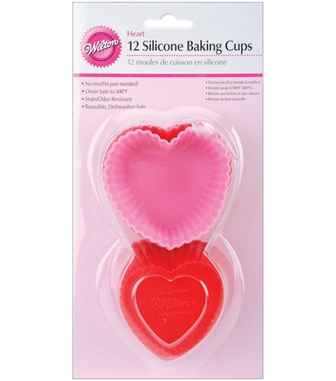 Wilton Silicone Baking Cups-Heart