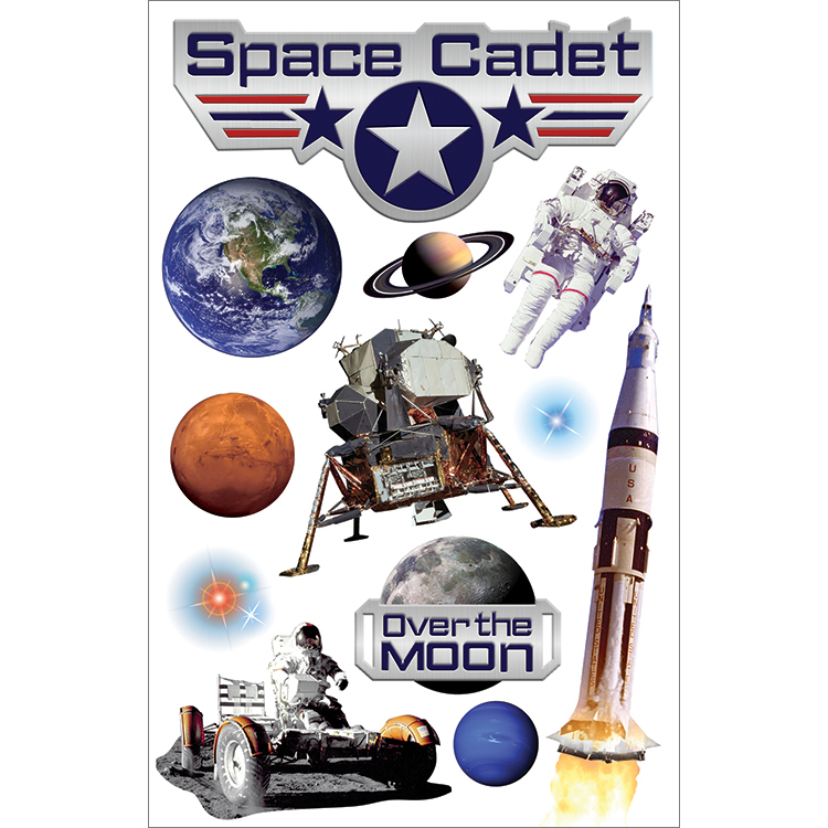 Space Cadt-3d Stickers