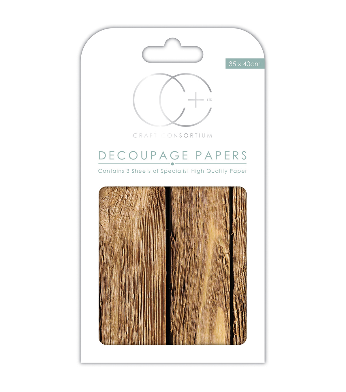 Craft Consortium 3pcs 13.75\u0027\u0027x15.75\u0027\u0027 Decoupage Papers-Oakwood