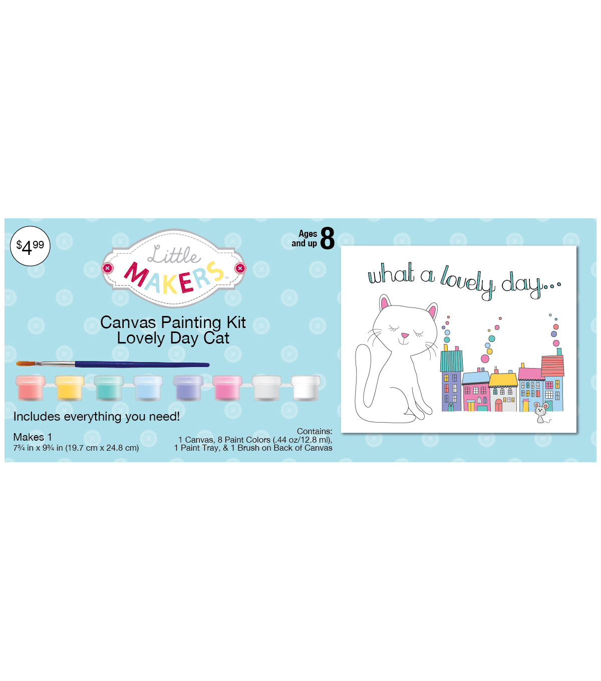 Little Makers™ Canvas Painting Kit 7.75\u0022x9.75\u0022-Lovely Day Cat