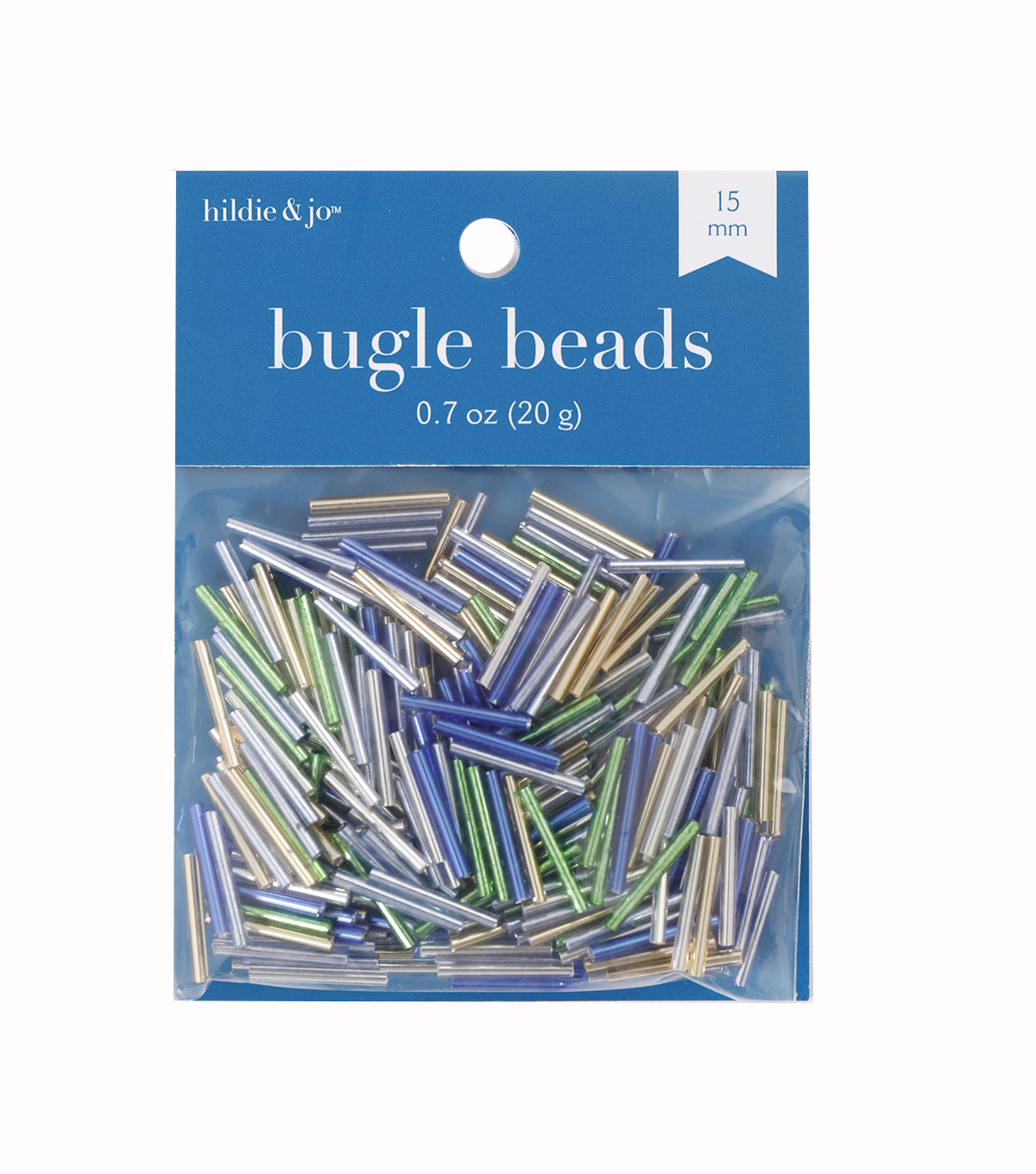 Glass Bugle Beads-Assorted Colors, Silver Lined,1/2 inch long.