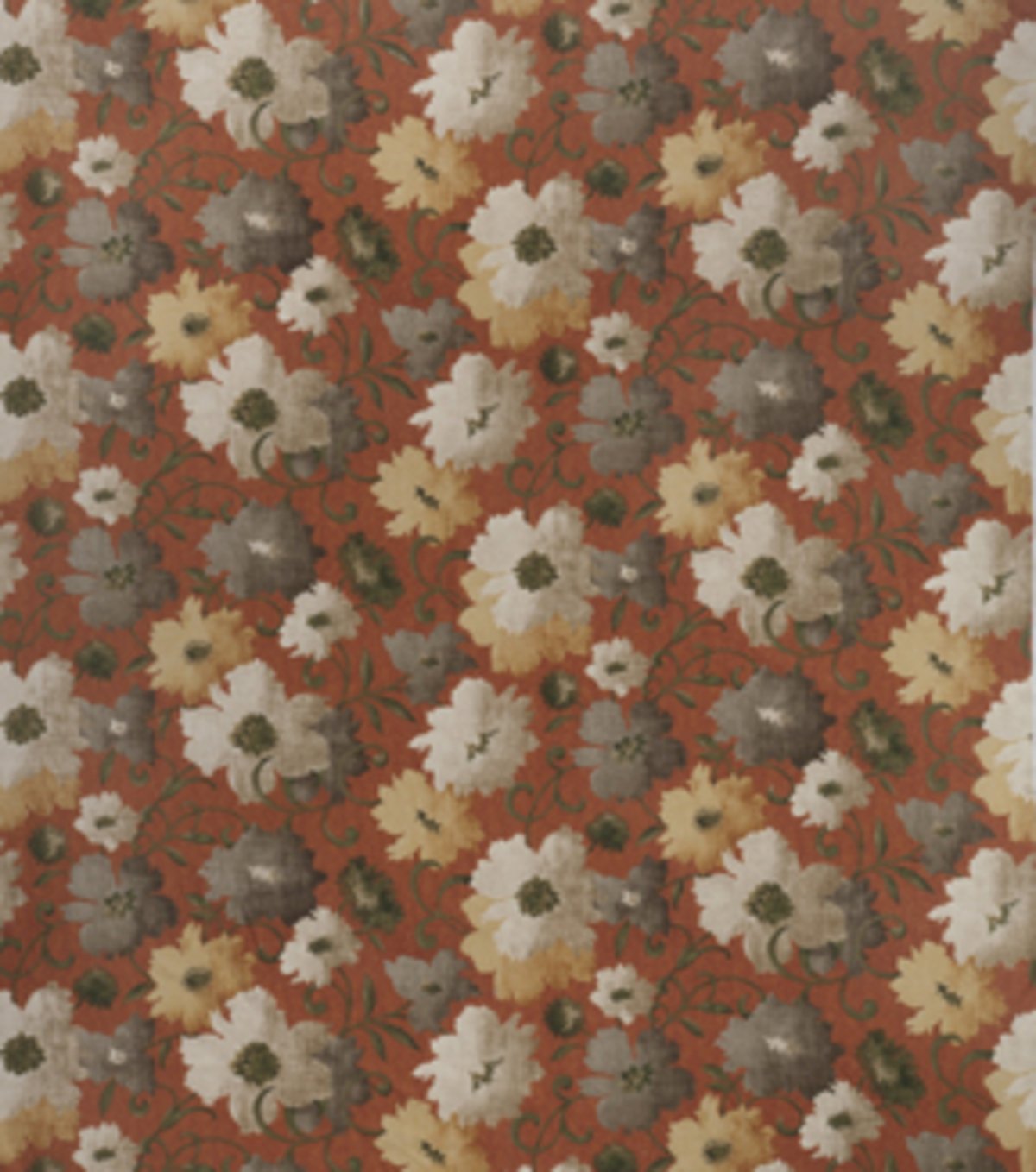 "Home Decor 8""x8"" Fabric Swatch-Upholstery Fabric SMC Designs Gladis Sienna"