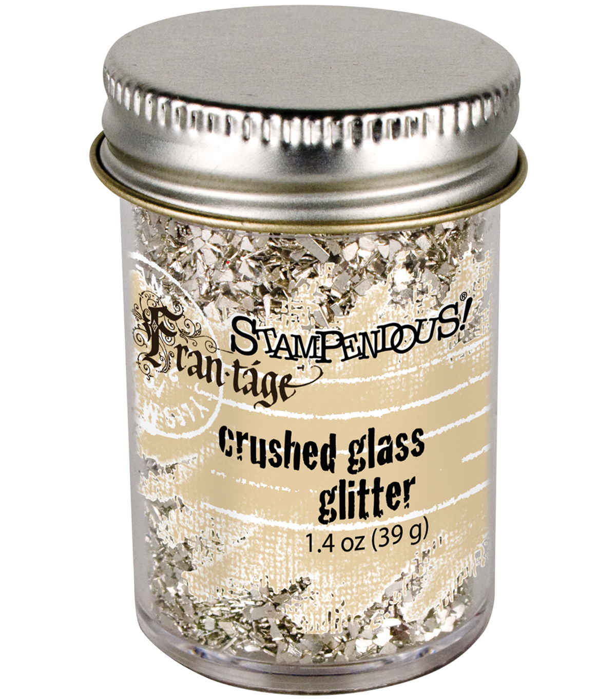 Stampendous Glass Glitter 1 Ounce-Silver
