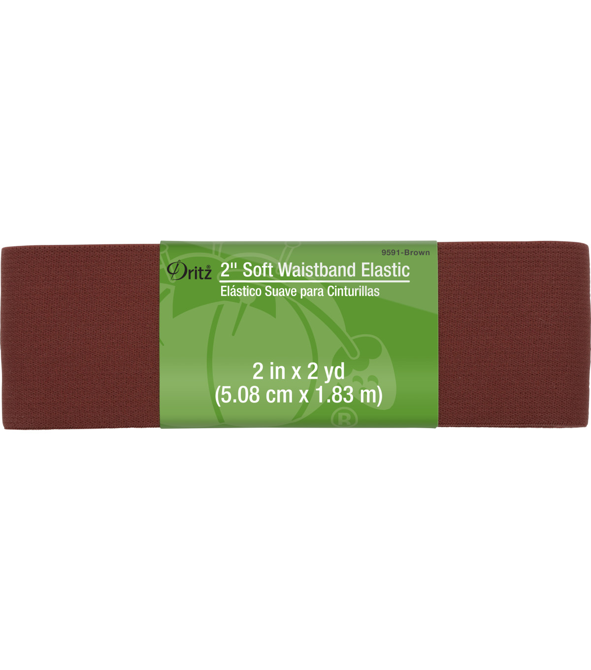 Dritz® 2'' Soft Waistband Elastic-Brown