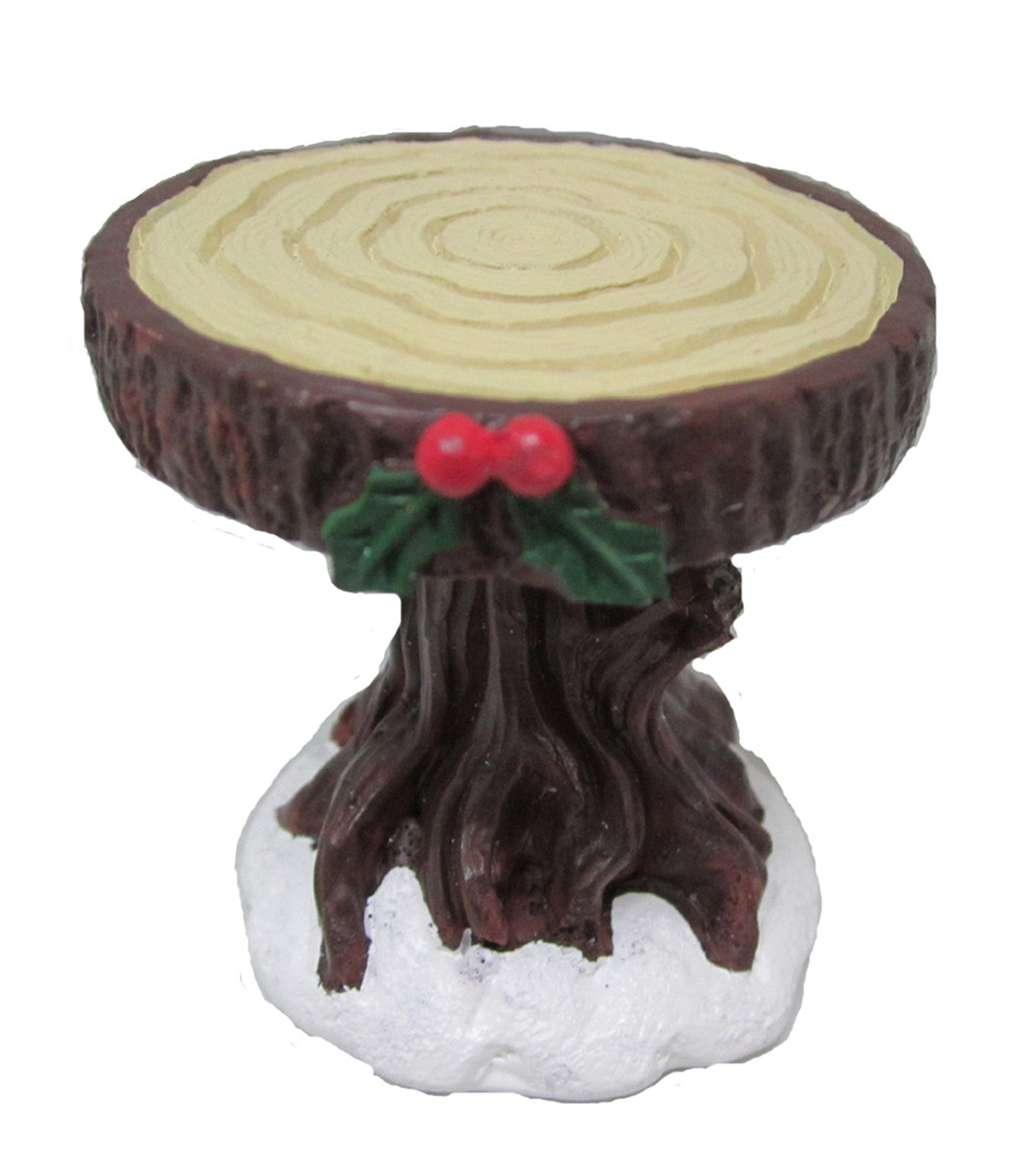 Maker\u0027s Holiday Littles Resin Table with Holly