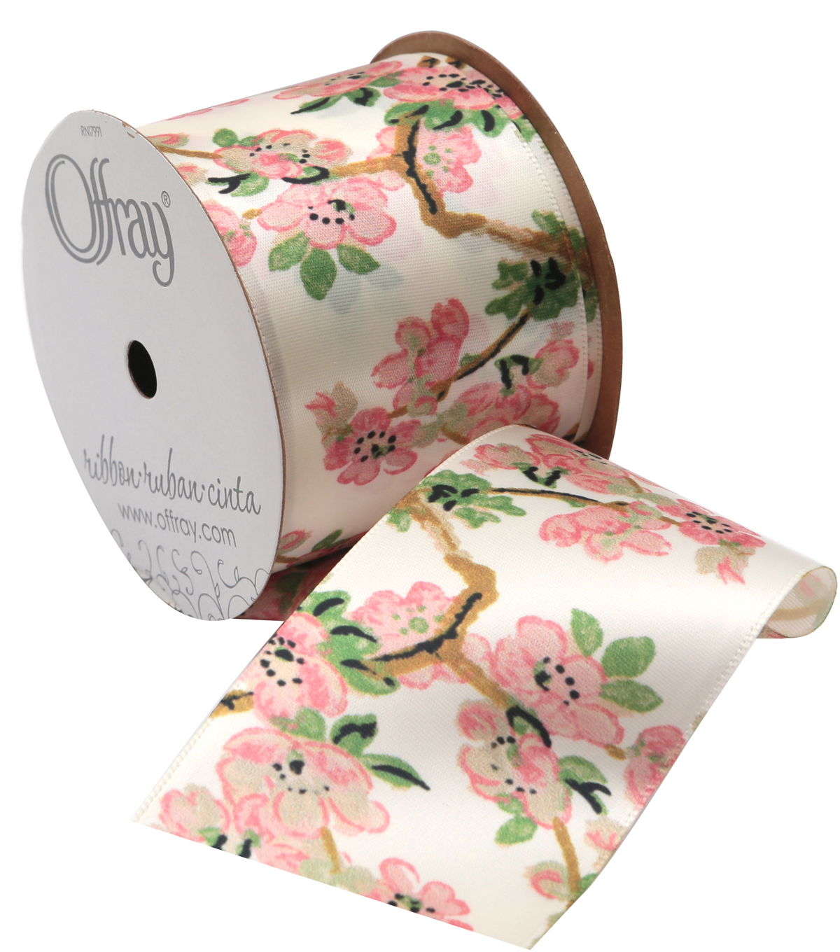 2 And One Qtr Asian Garden Floral 2 Ribbon