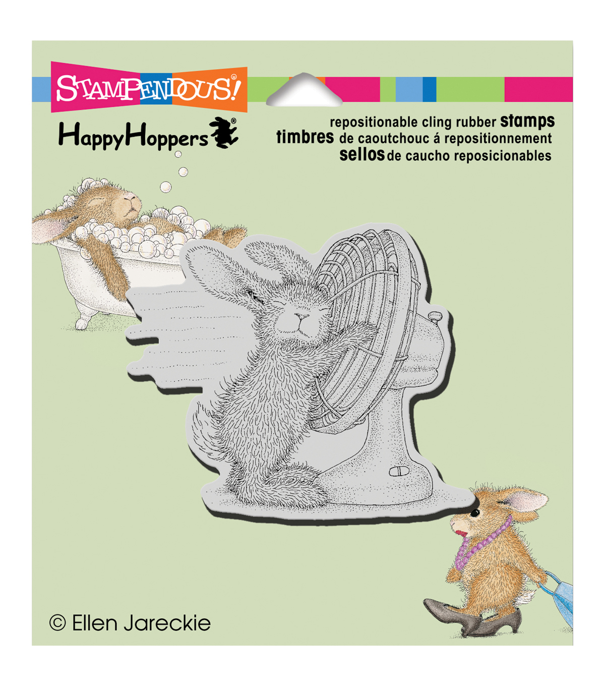 Stampendous HappyHopper Cling Rubber Stamp Cool It
