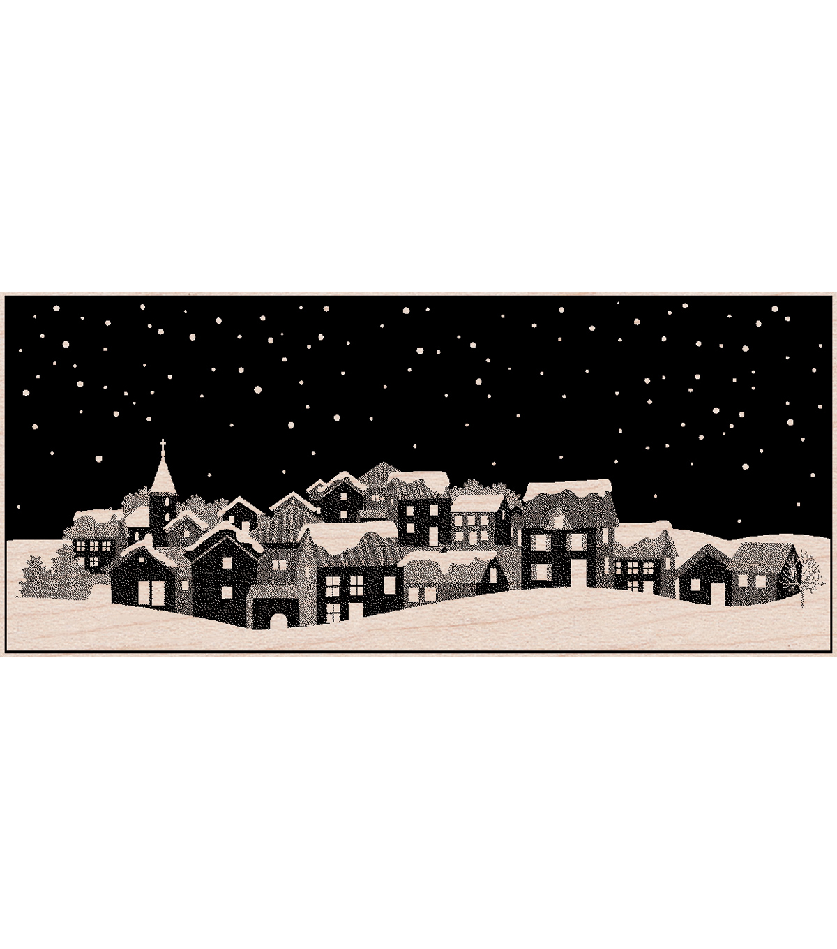 Hero Arts Mounted Rubber Stamps-Winter Town