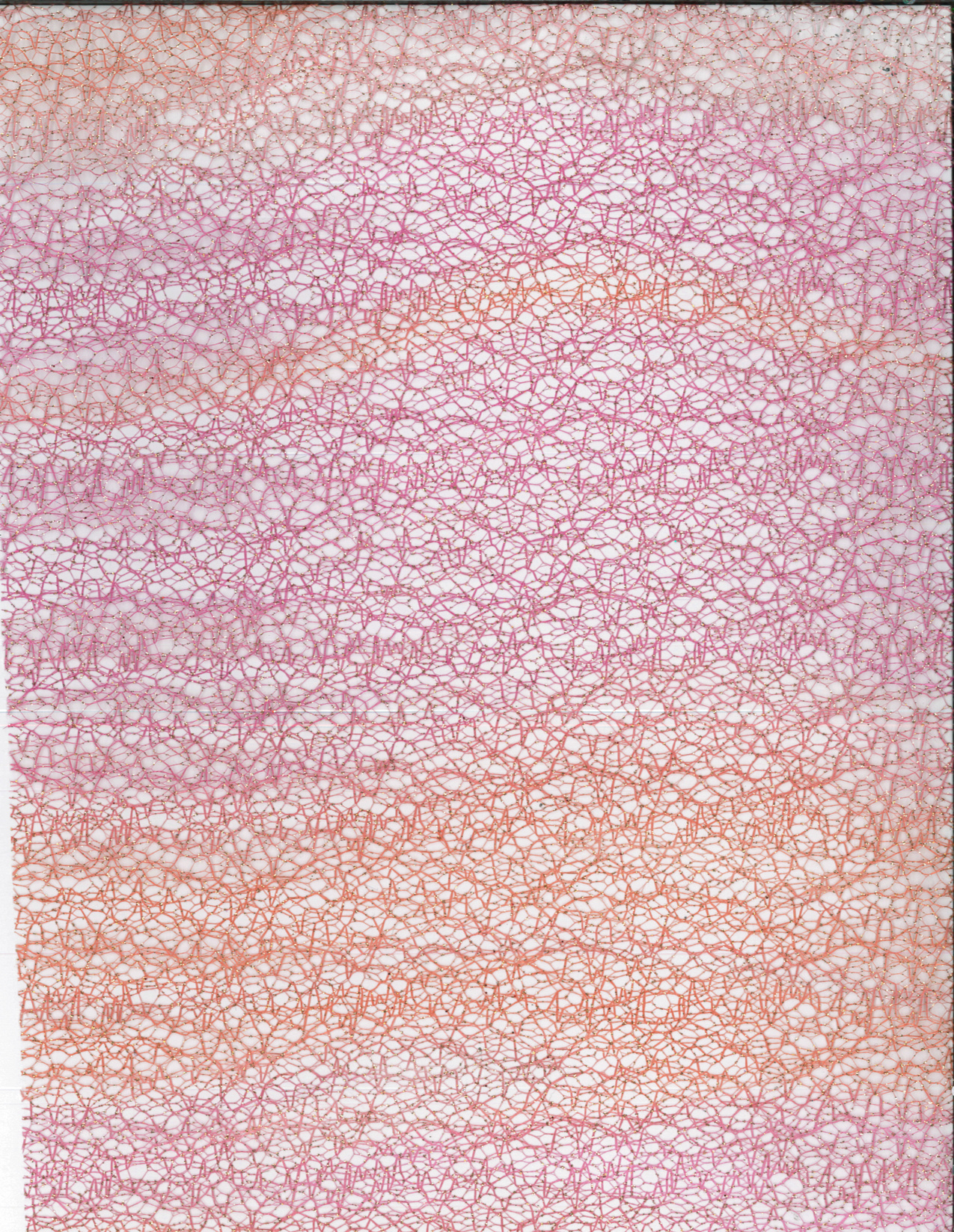 All That Glitters Fabric- Rb Ombre Glitter Mesh Pink & Orange