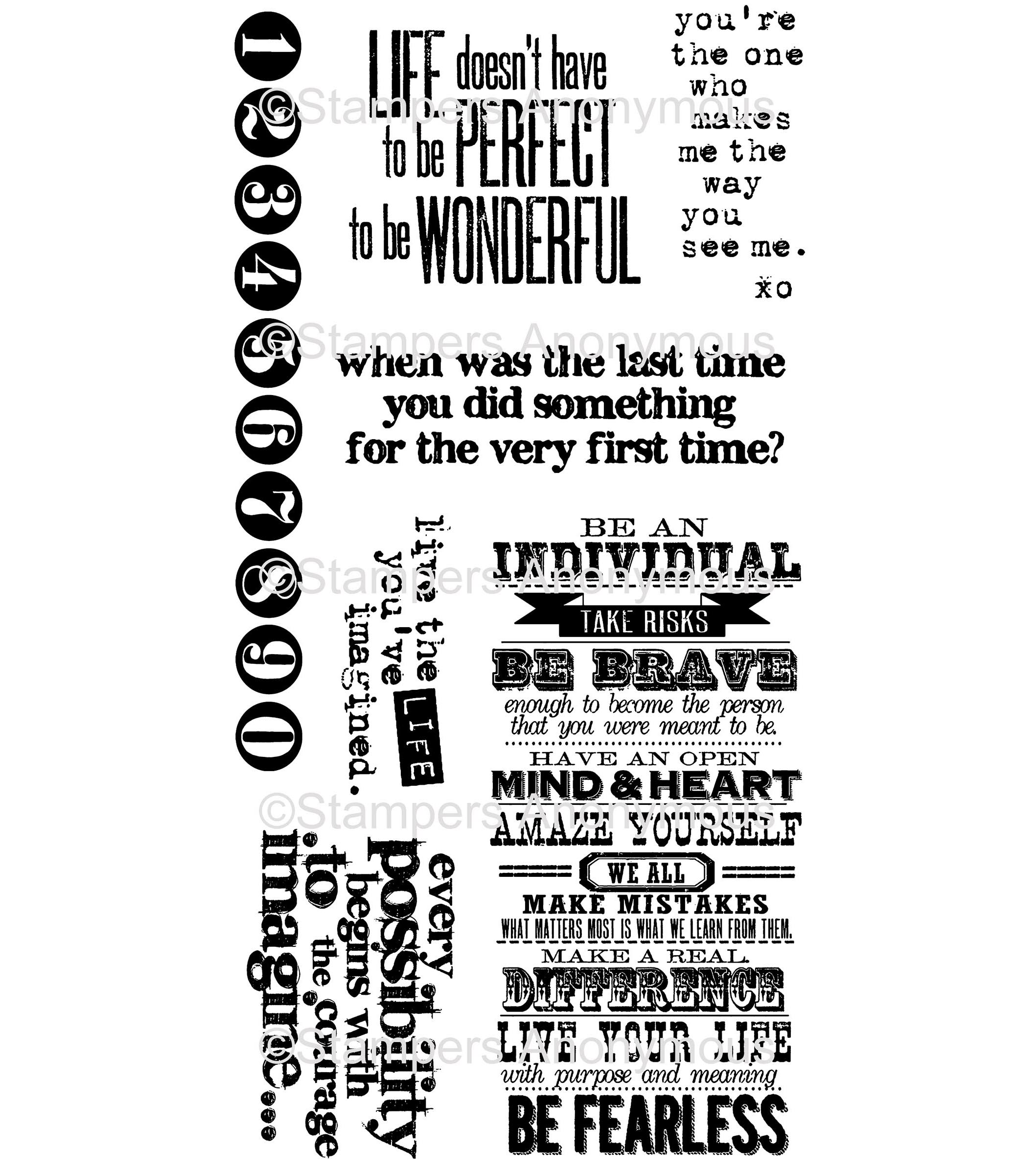 Tim Holtz® Cling Mounted Rubber Stamp Set - Phrases 2