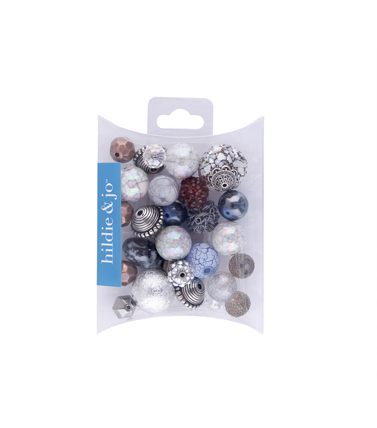 hildie & jo™ 28 Pack Mix Beads-Blue & Copper