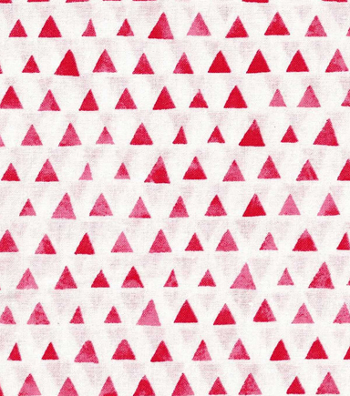 "Keepsake Calico™ Cotton Fabric 43""-Red Shaded Triangle"
